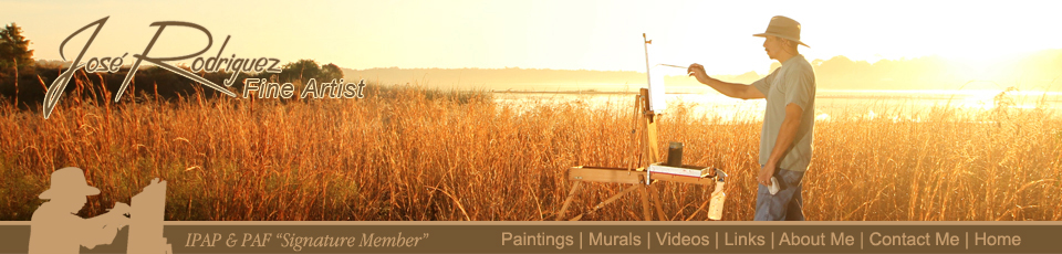 En Plein Air Painting, Murals and Tips by Jose Rodriguez